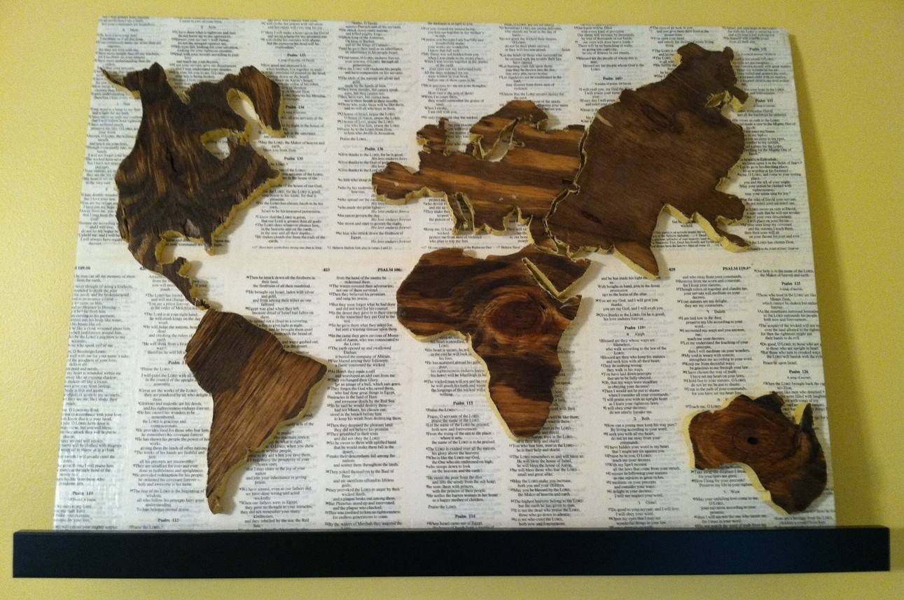 World Map | Studio{1859} For Most Recently Released Wood Map Wall Art (View 13 of 20)