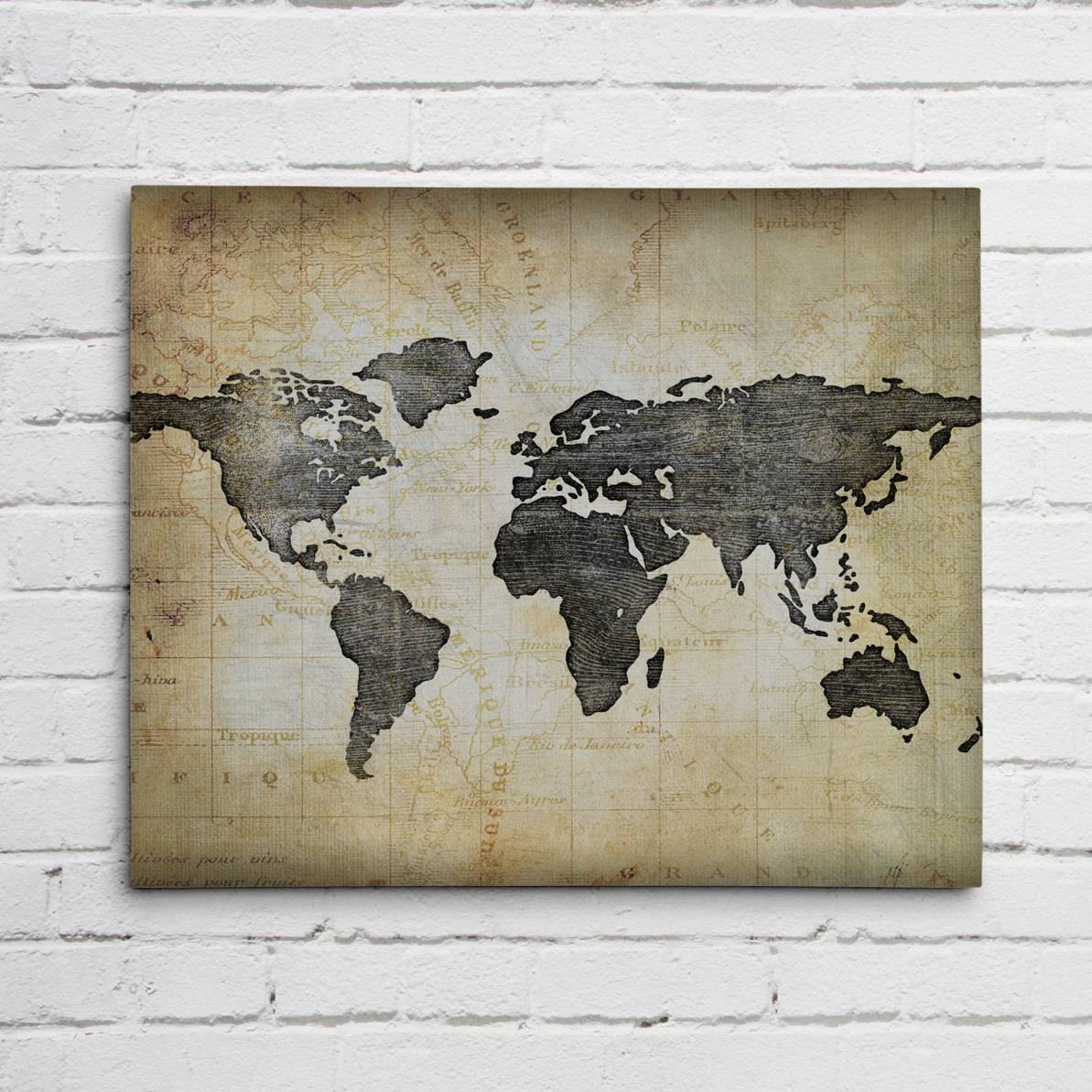 World Map Wall Art For Most Recently Released World Map Wall Art Framed (View 20 of 20)
