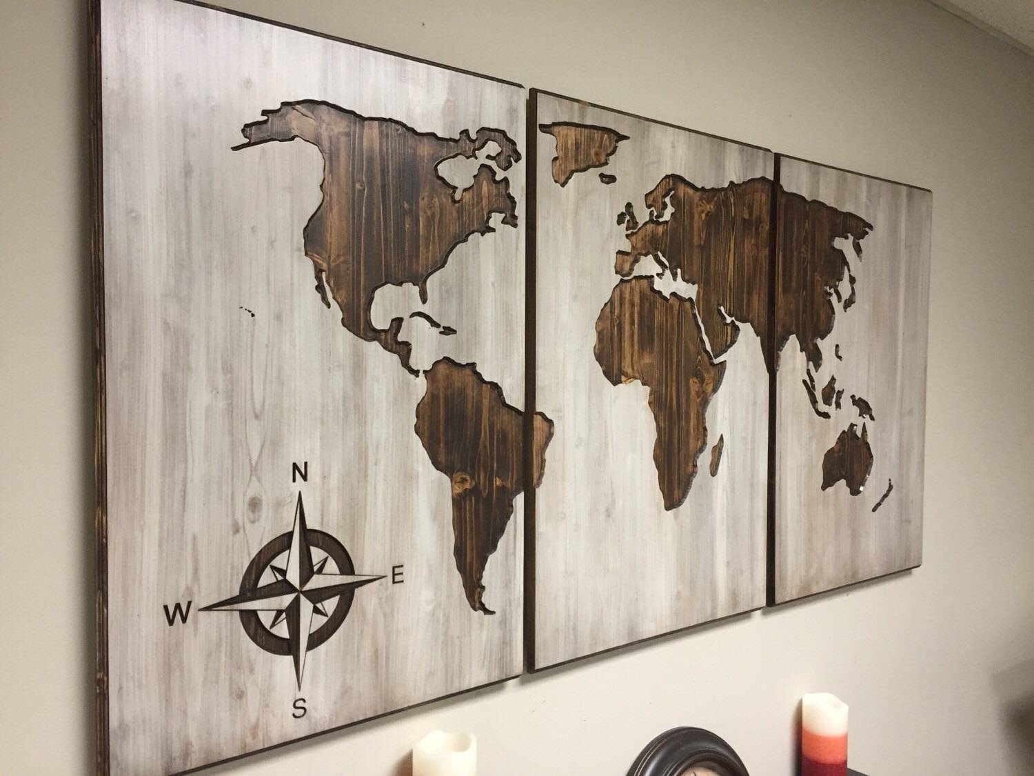 World Map Wood Wall Art Carved Custom Home Decor Wooden Best Of Intended For Most Up To Date Custom Map Wall Art (View 2 of 20)
