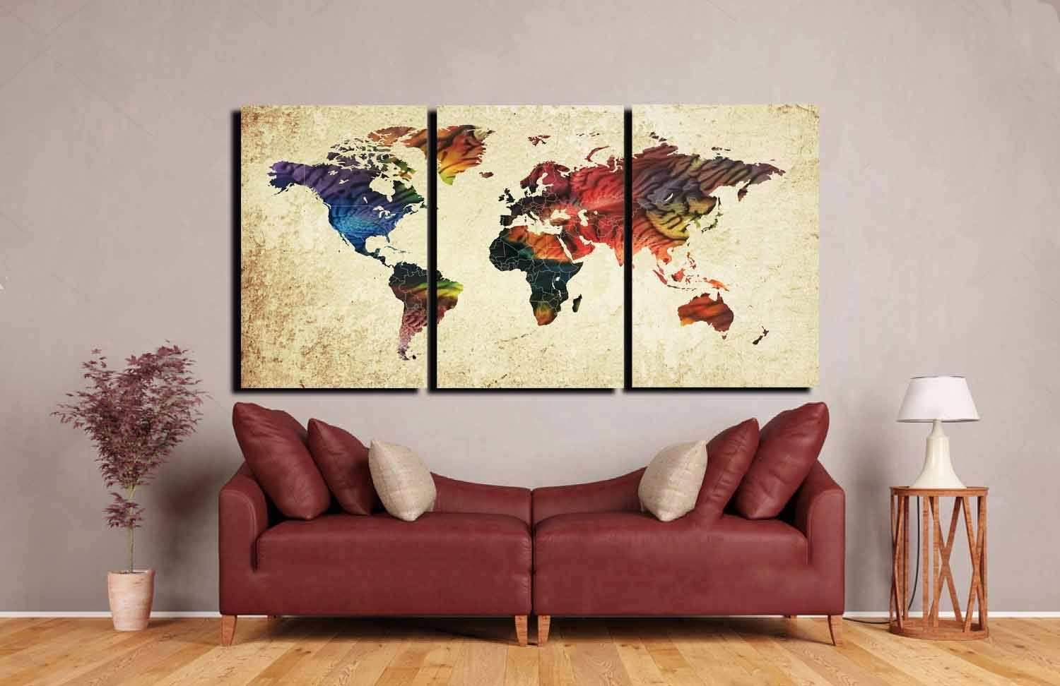 World Map,large World Map, World Map Canvas,abstract World Map,3 In Newest Butterfly Map Wall Art (View 20 of 20)