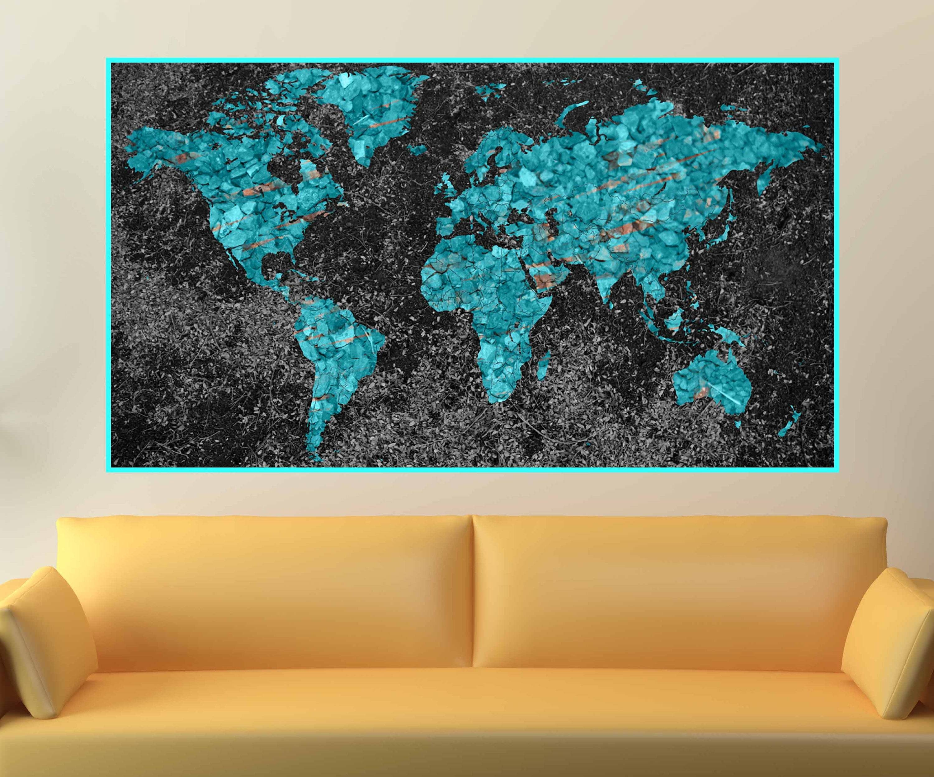Old fashioned world map wall art composition wall painting ideas 20 best ideas of abstract world map wall art publicscrutiny Choice Image