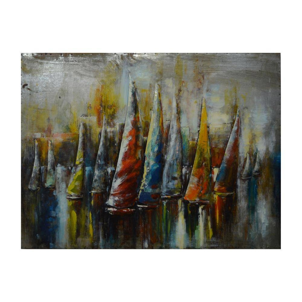 Yosemite Home Decor Catamaran's Colors Multi Colored Metal Wall Pertaining To Most Popular Colorful Metal Wall Art (Gallery 11 of 20)