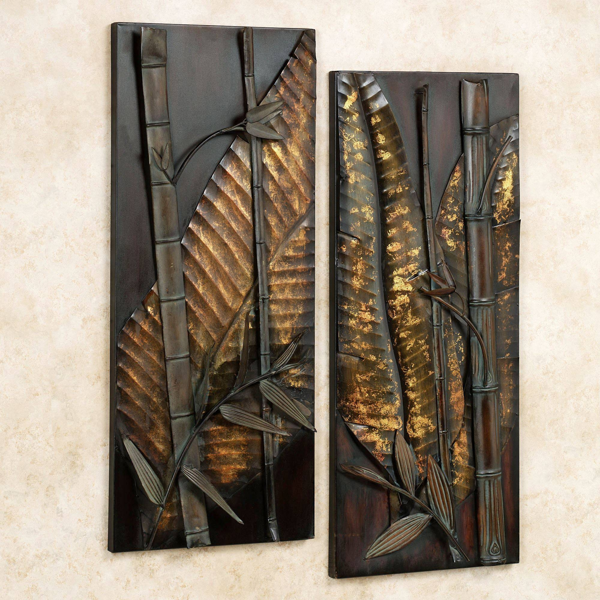 Zen Essence Metal Wall Art Set For Most Current Tropical Metal Wall Art (View 11 of 20)