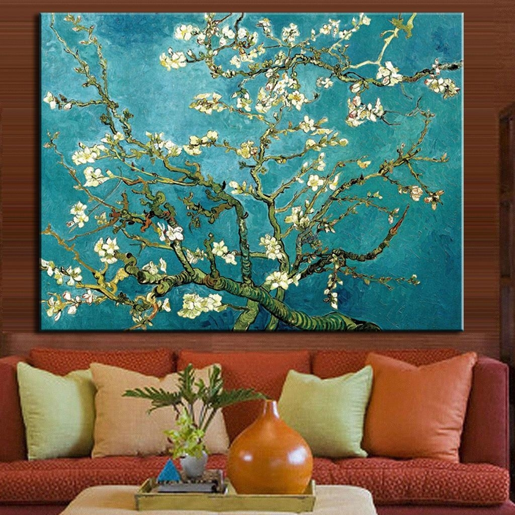 1 Pcs/set The Almond Blossom Huge Picture Abstract Flower Oil With Most Recently Released Almond Blossoms Vincent Van Gogh Wall Art (View 1 of 20)