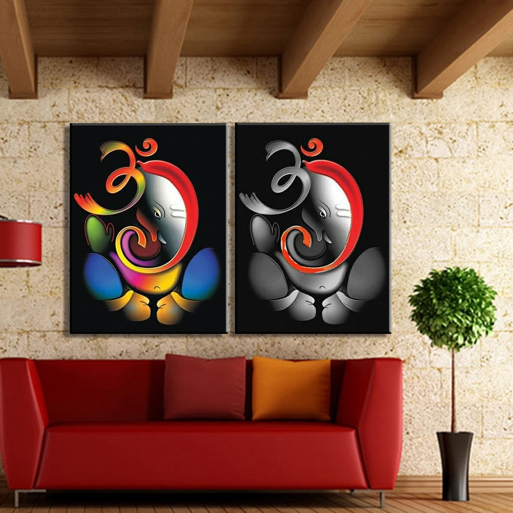 Featured Photo of Abstract Ganesha Wall Art
