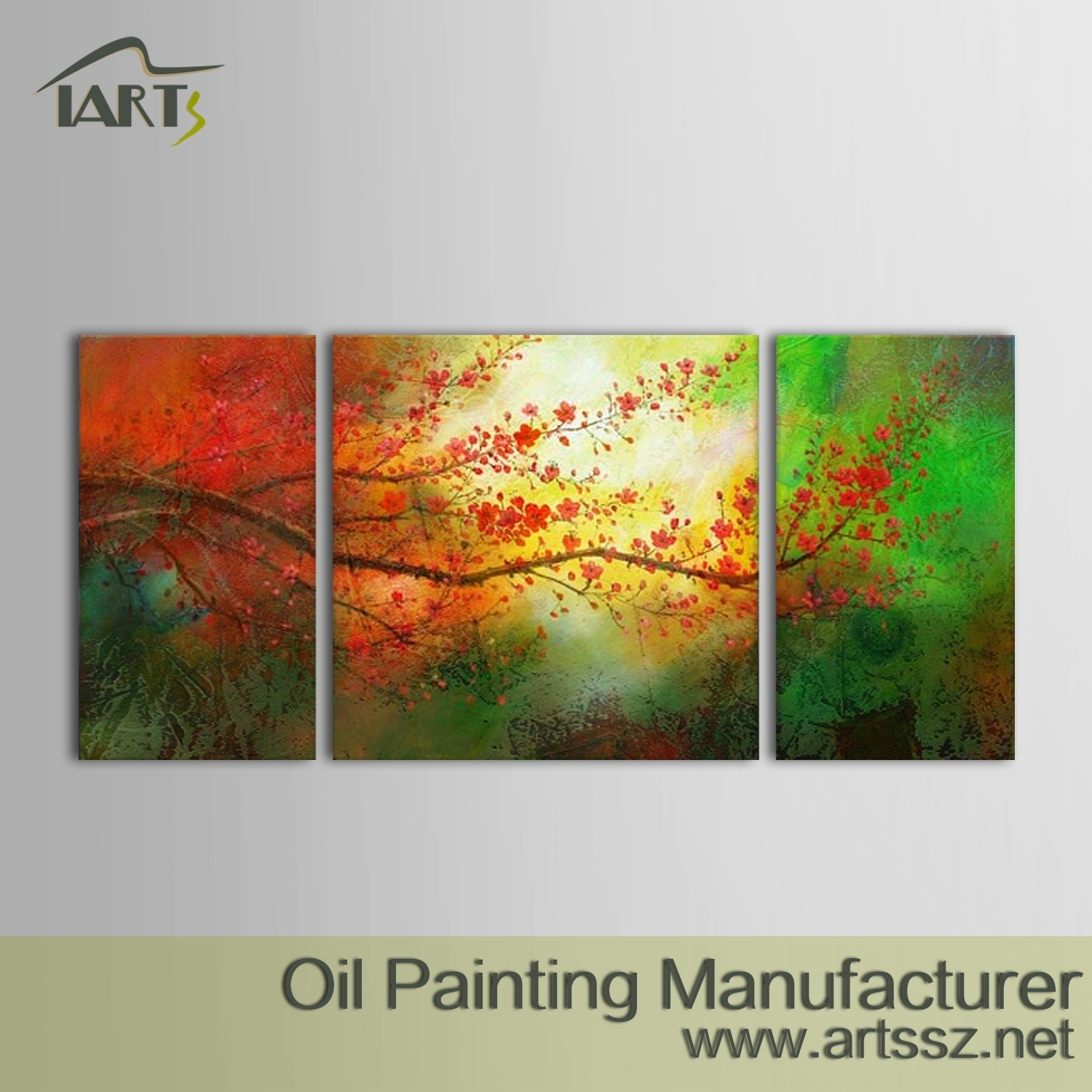 100% Handmade Abstract Oil Painting – Iarts – Professional Wall Regarding Most Popular Abstract Nature Canvas Wall Art (View 14 of 20)