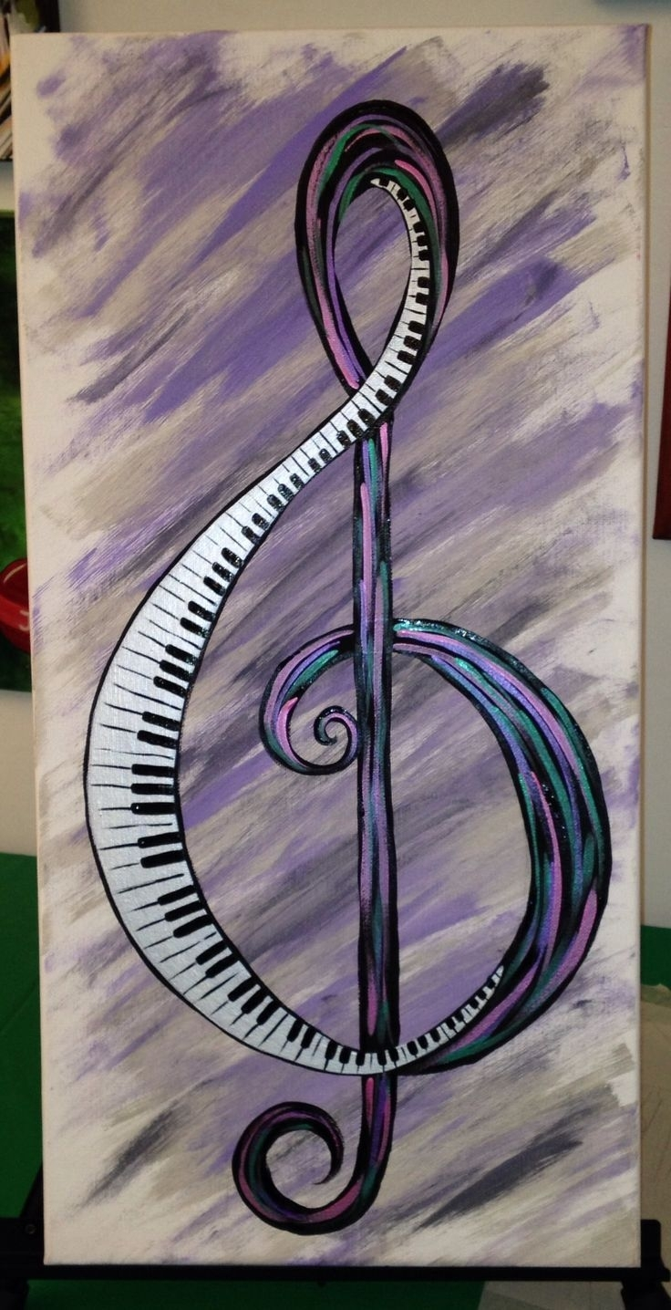 1000+ Ideas About Music Canvas On Pinterest | Sheet Music, Vintage Regarding 2017 Abstract Musical Notes Piano Jazz Wall Artwork (View 3 of 20)