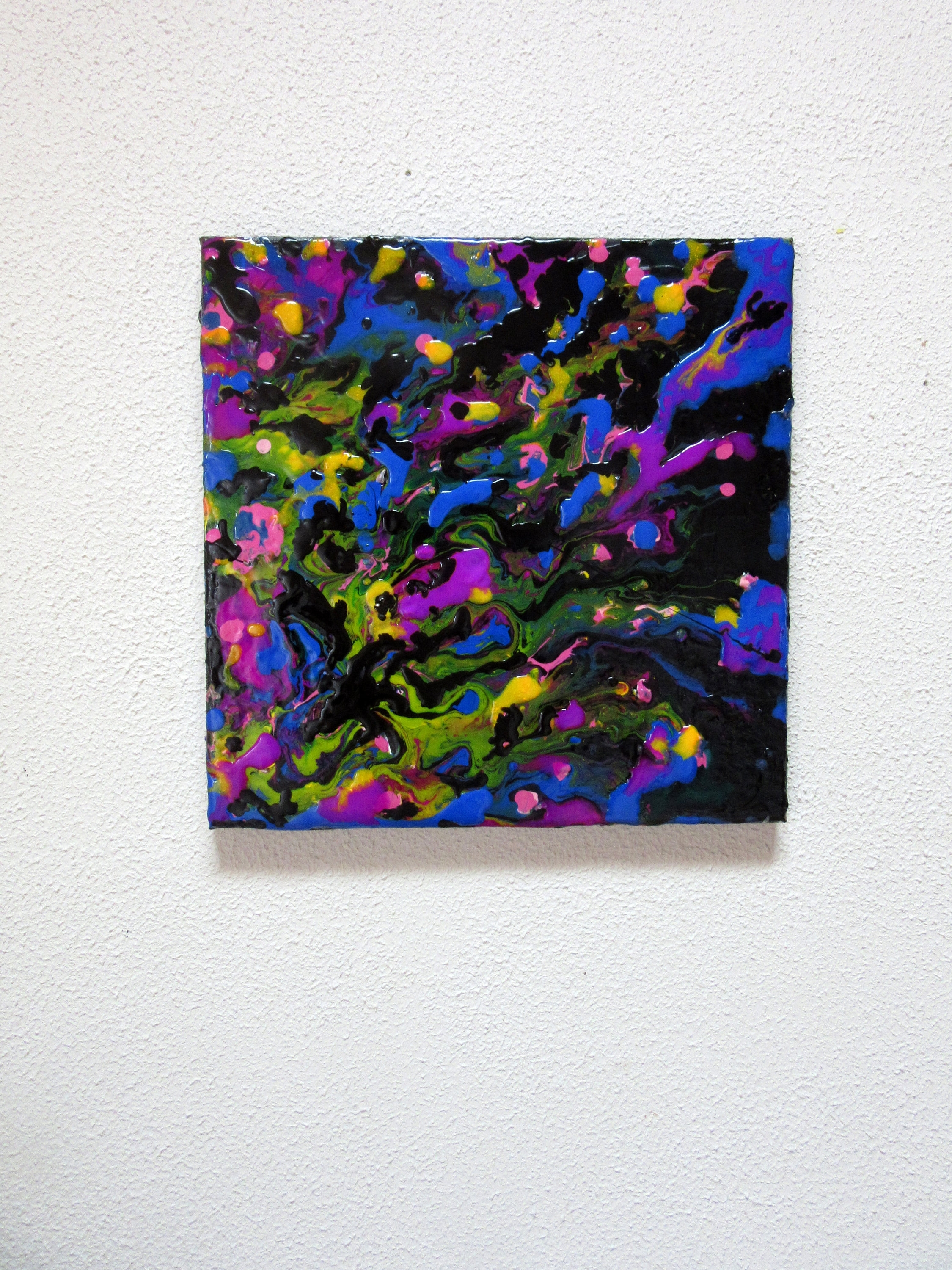 12 X 12 Art, Fluid Acrylic Painting, Liquid Painting, Colorful Pertaining To Best And Newest Abstract Neon Wall Art (View 1 of 20)
