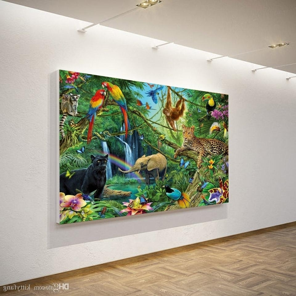 15 Best Ideas Of Jungle Canvas Wall Art Pertaining To Current Kingdom Abstract Metal Wall Art (View 1 of 20)