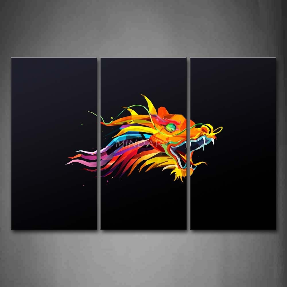18 Collection Of Dragon Wall Art Within Most Current Abstract Graphic Wall Art (View 4 of 20)