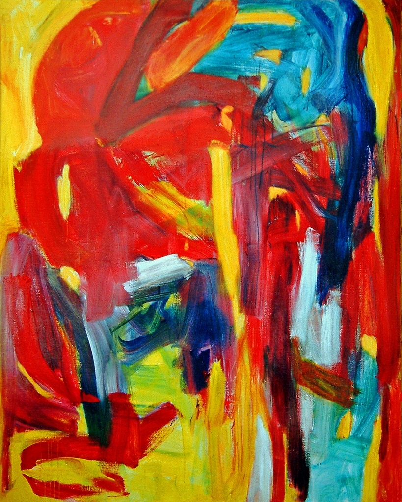 1993 – 'fathers Must Die', Abstract Expressionist Painting… | Flickr For Current Abstract Expressionism Wall Art (View 1 of 20)