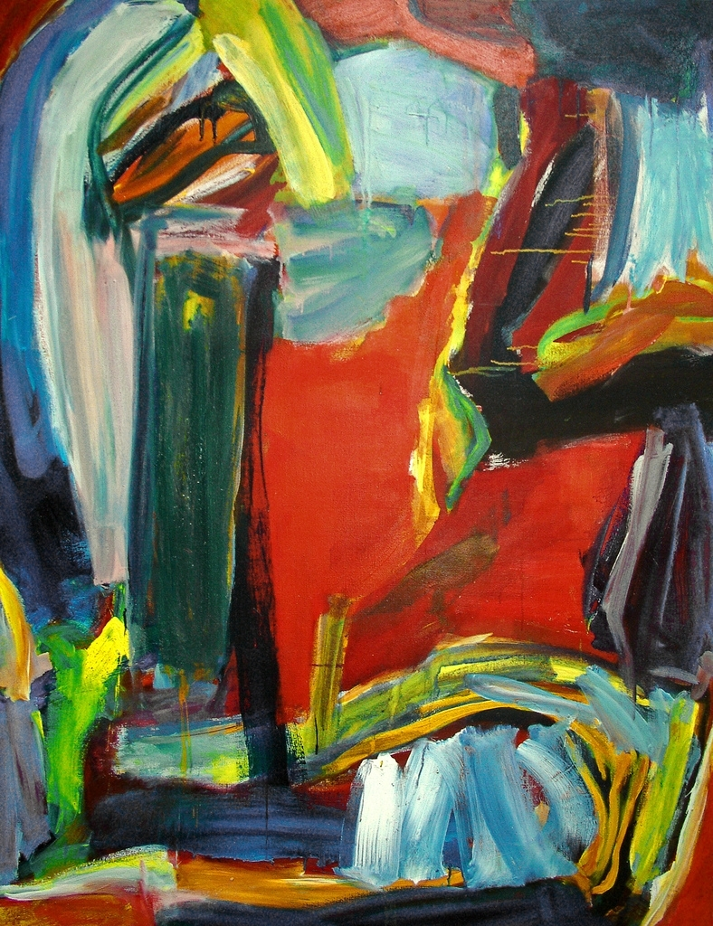1993 – 'the Magic Wood', Abstract Expressionist Painting O… | Flickr Throughout Newest Abstract Expressionism Wall Art (View 2 of 20)