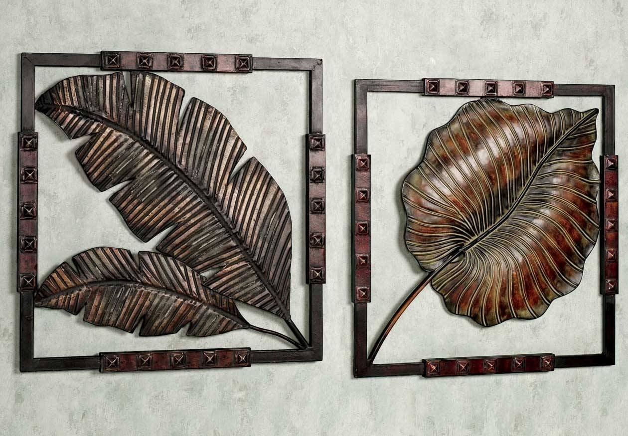 20 Best Collection Of Decorative Metal Wall Art Inside Most Popular Abstract Leaf Metal Wall Art (View 1 of 20)