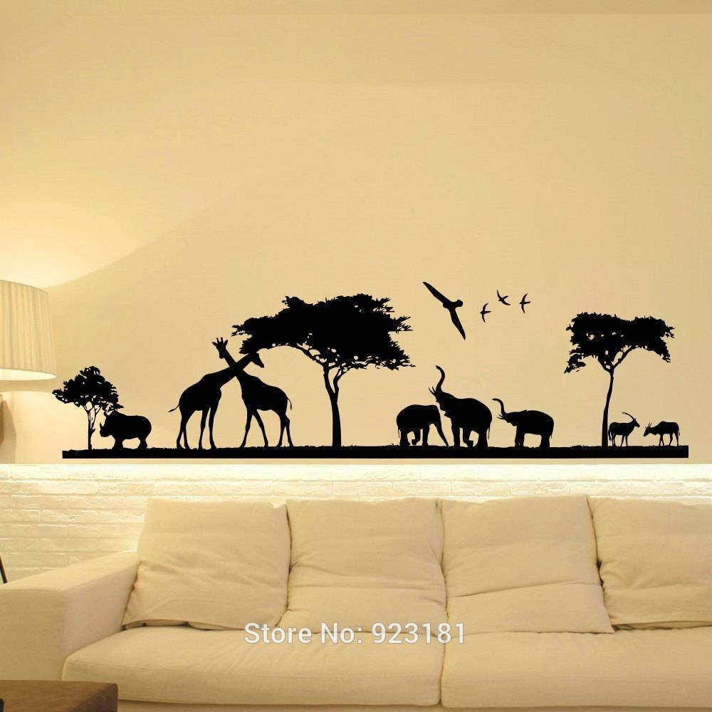 20 Ideas Of Animals 3D Wall Art With Most Popular JungleAnimal Wall Art (View 1 of 20)