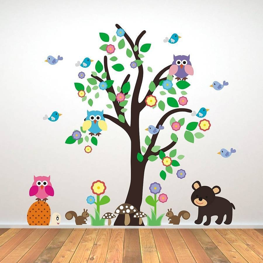 2015 New Sea World Childrens Room Wall Sticker Ocean World Cartoon With Regard To Most Popular Animal Wall ArtStickers (View 3 of 20)