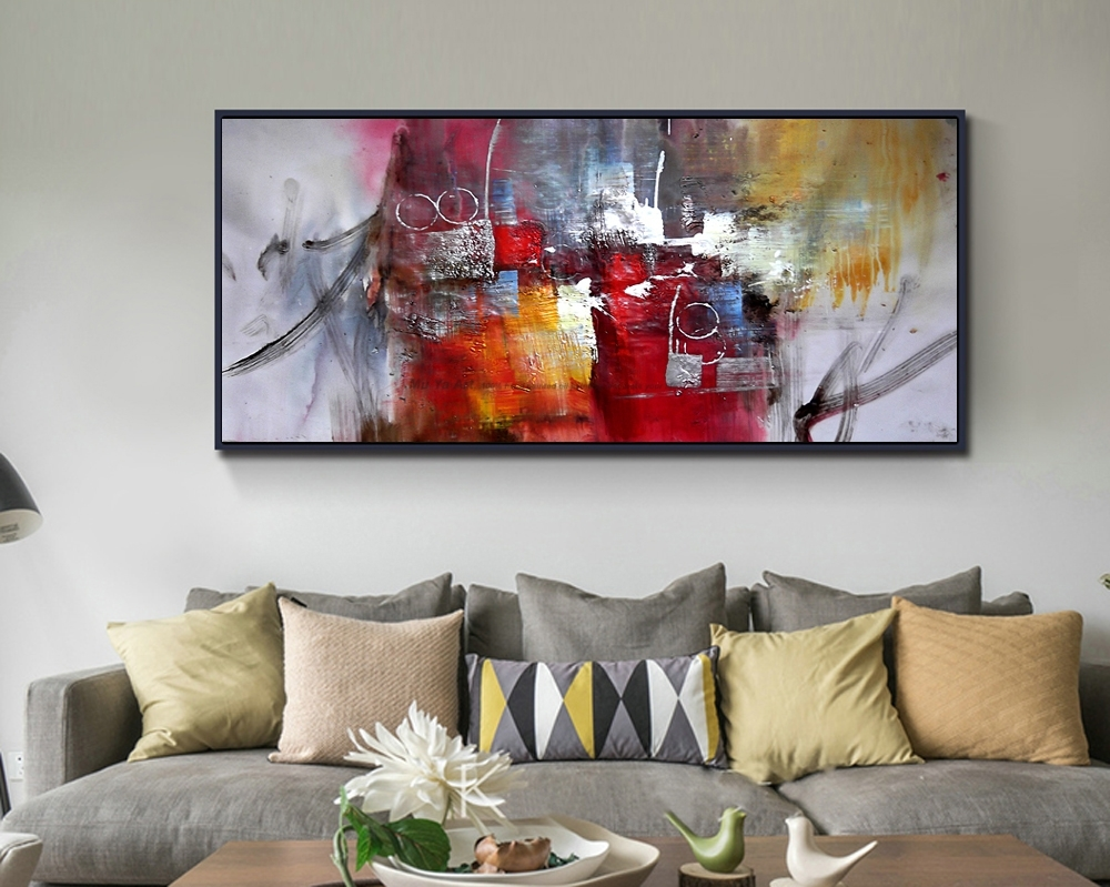 2017 100% Hand Painted Large Size Abstract Wall Art Canvas Mural With 2017 Abstract Wall Art For Living Room (View 3 of 20)