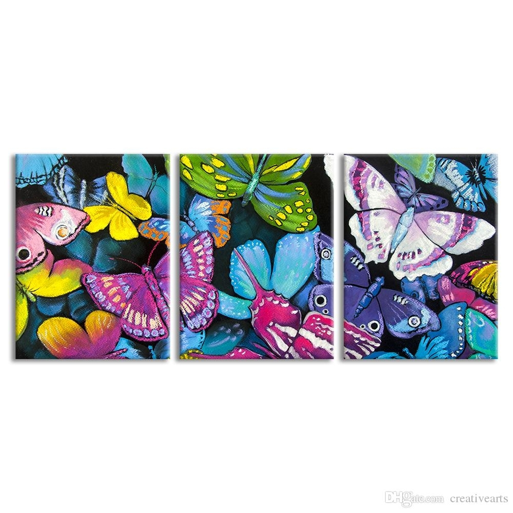 2018 Abstract Butterfly Giclee Print Modern Canvas Wall Art Living Intended For Most Recent Abstract Butterfly Wall Art (View 2 of 20)