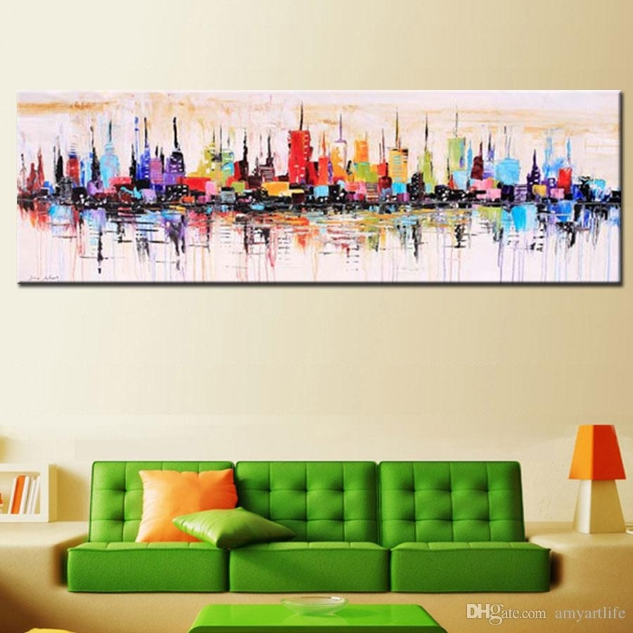 2018 Fashion Modern Living Room Decorative Oil Painting Pertaining To Latest Large Abstract Wall Art (View 11 of 20)