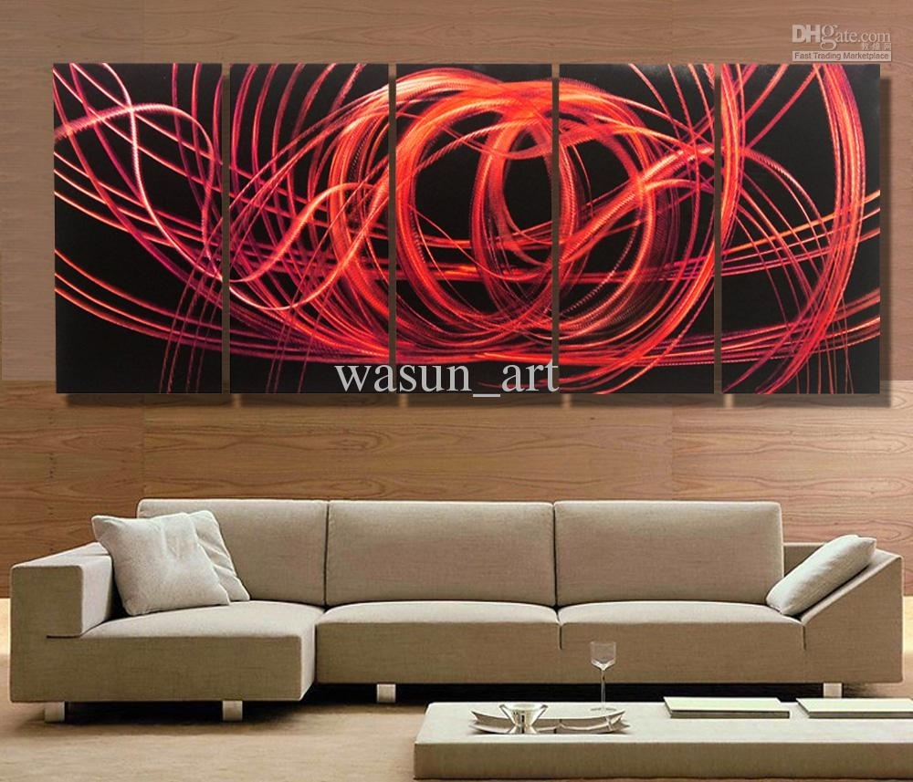 2018 Modern Contemporary Abstract Painting,metal Wall Art Inside 2018 Modern Abstract Wall Art Painting (View 4 of 20)