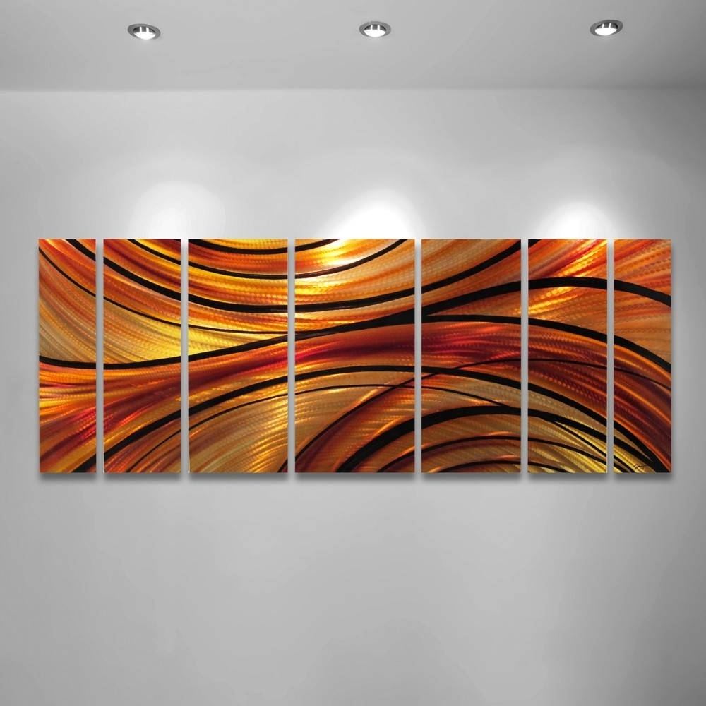 2018 Popular Orange Metal Wall Art In Most Current Abstract Orange Wall Art (View 2 of 20)