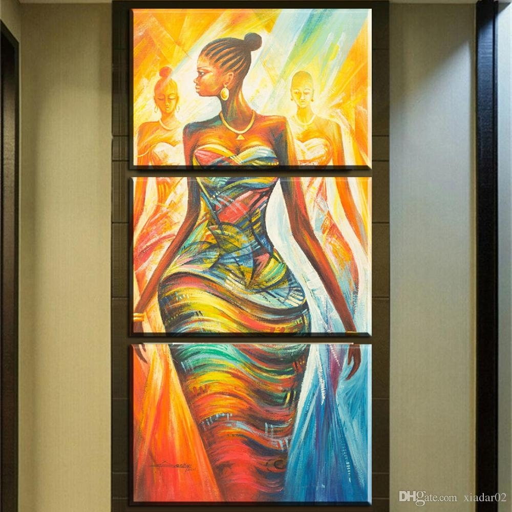 2018 Zz679 Hd Print Poster Wall Art Abstract Modern African Women With Recent Abstract African Wall Art (View 3 of 20)