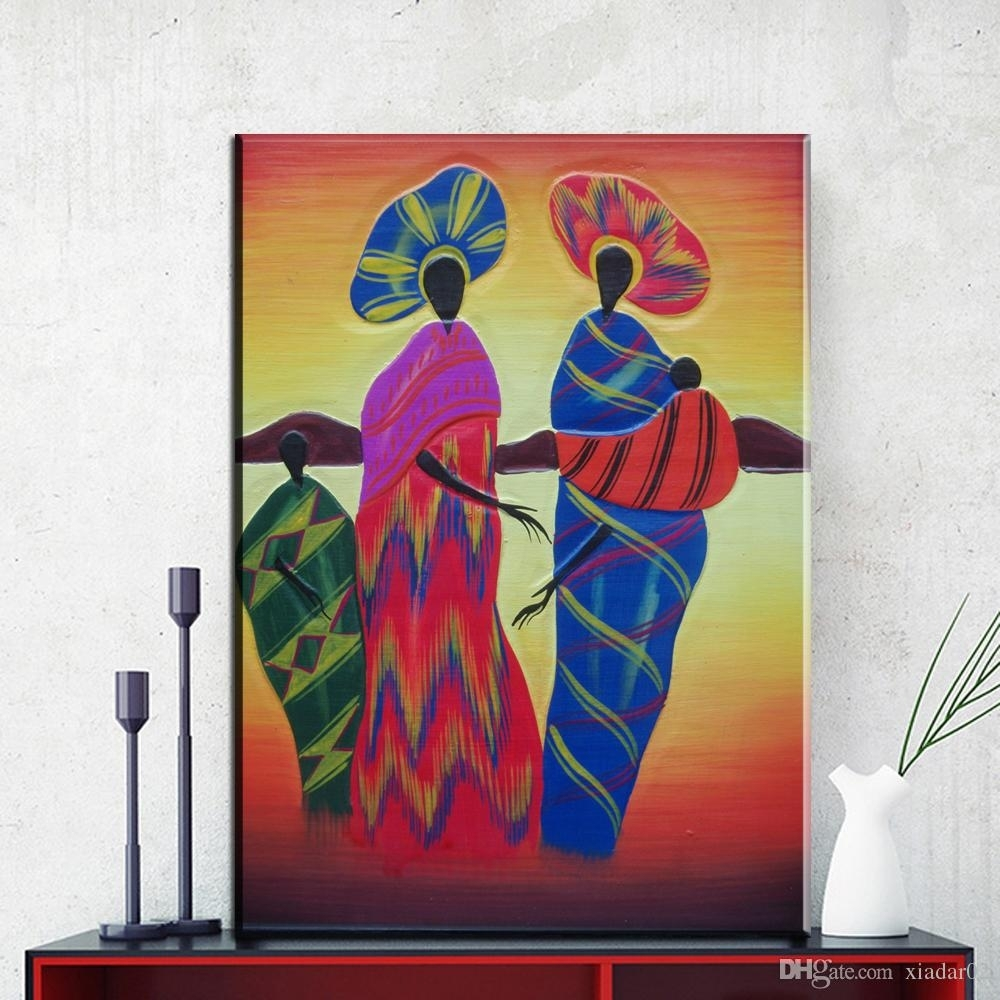 2018 Zz716 Modern Abstract Canvas Wall Art Colorful Abstract Pertaining To 2017 Abstract African Wall Art (View 4 of 20)