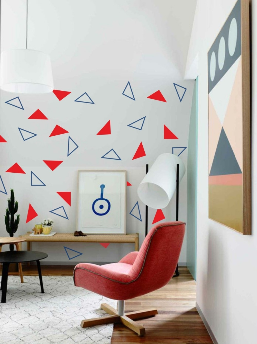 24Pcs(Solid And Hollow) Triangles Abstract Geometric Wall Sticker For Current Abstract Art Wall Decal (Gallery 2 of 20)