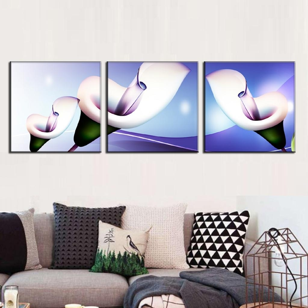 3 Pcs/set Abstract Canvas Wall Art Paintings With Frame Glass Pertaining To Recent Glass Abstract Wall Art (View 2 of 20)