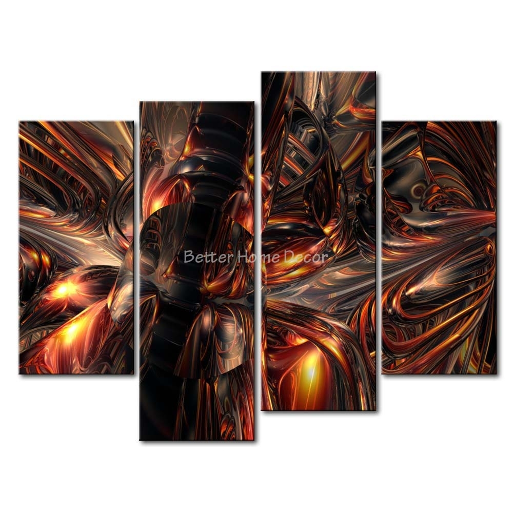 3 Piece Metal Wall Art Gorgeous Nadia Metal Wall Plaques Set Of 3 for Latest Abstract Metal Wall Art Panels