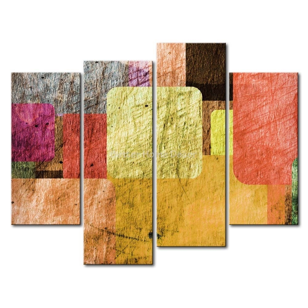3 Piece Wall Art Painting Overlapping Pastel Tiles Picture Print Regarding Most Up To Date Pastel Abstract Wall Art (Gallery 9 of 20)