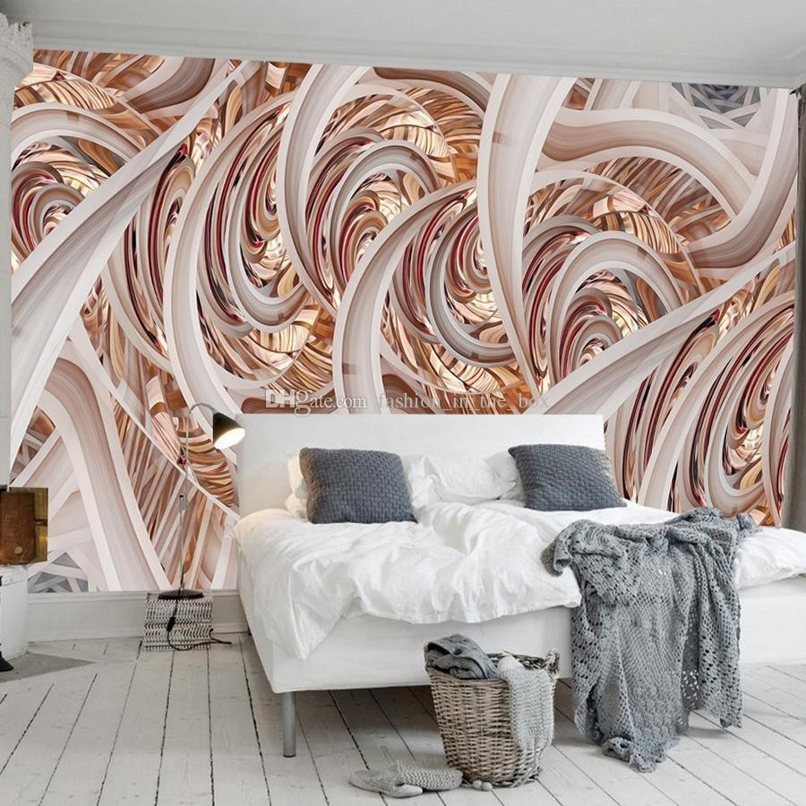 3d Geometry Wall Mural Abstract Lines Wallpaper 3d 5d Wallpaper Throughout Most Recently Released Abstract Art Wall Murals (View 16 of 20)