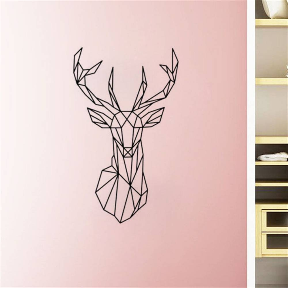 3d Vinyl Wall Art Geometry Animal Series Decals New Design In Current 3d animal Wall Art (View 14 of 20)