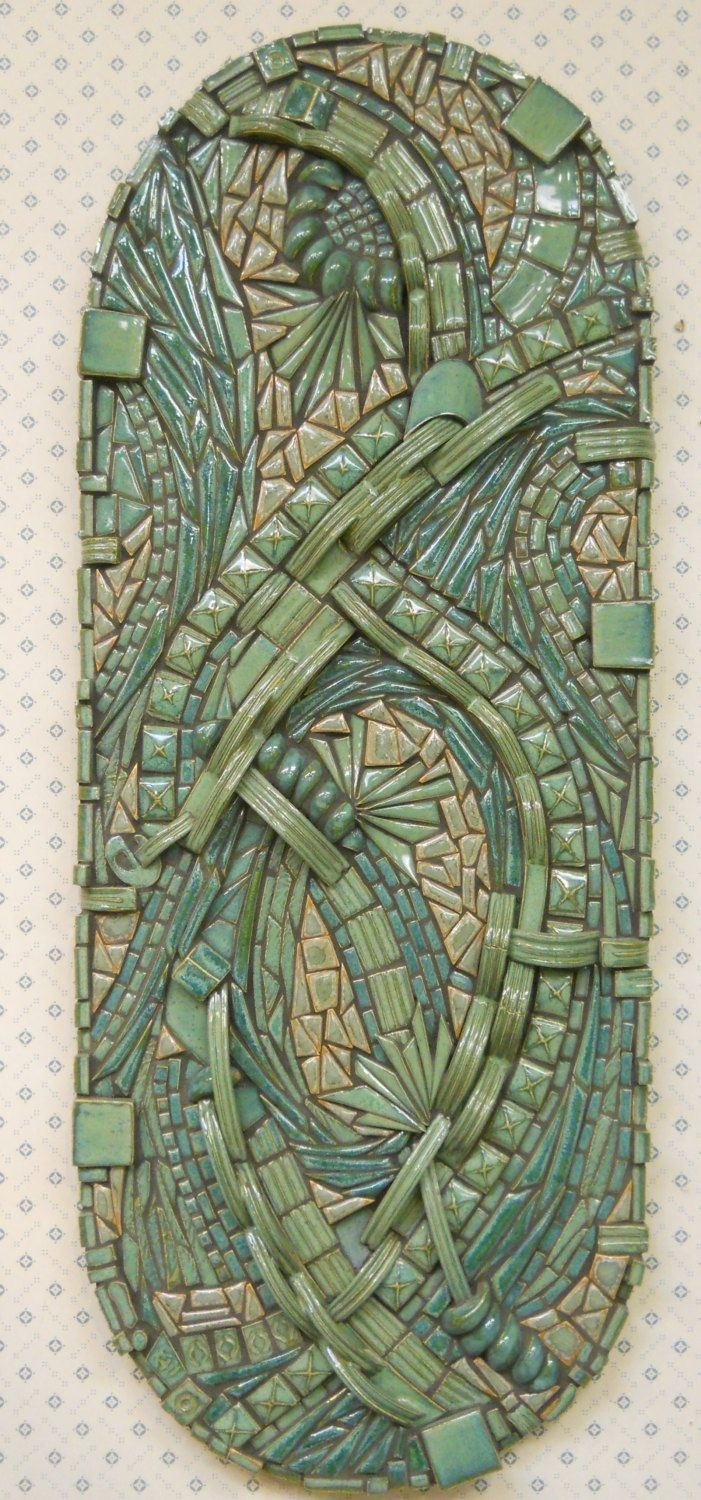 3D Zentangle Abstract Mosaic Wall Art Handmade Ceramic Tile Unique Within 2018 Abstract Mosaic Art On Wall (Gallery 12 of 20)