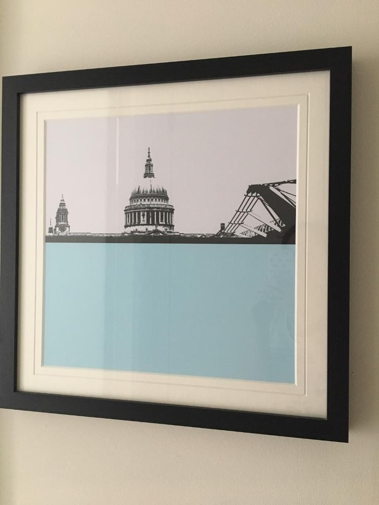 4 X John Lewis London Skyline City Framed Pictures | In Clapham With Regard To Recent John Lewis Abstract Wall Art (View 2 of 20)