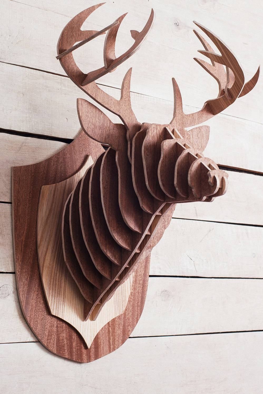 42 Animal Head Wall Art, Animals Head Wall Decoration Deer Head In Recent 3d animal Wall Art (View 9 of 20)