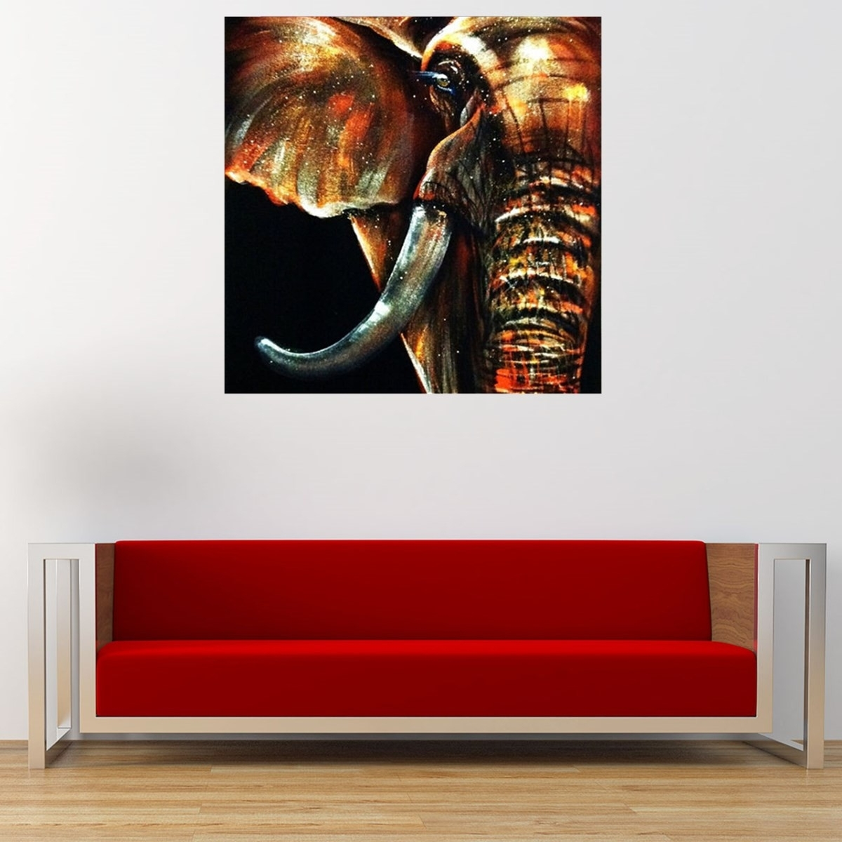 50X50Cm Modern Abstract Huge Elephant Wall Art Decor Oil Painting for Most Up-to-Date Abstract Elephant Wall Art