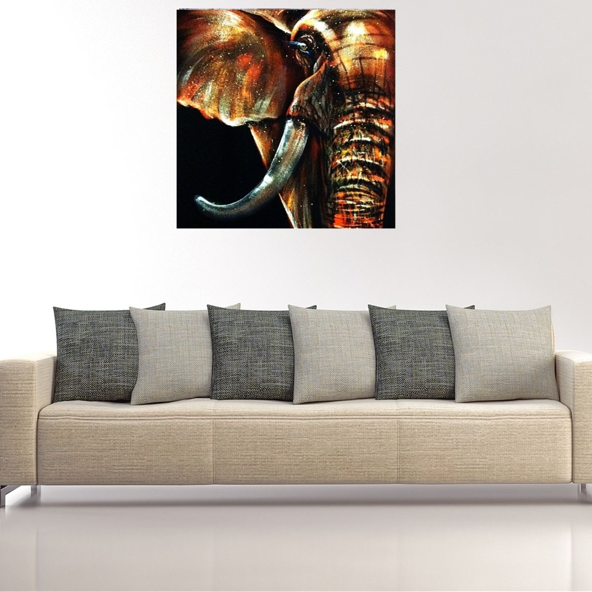 50x50cm Modern Abstract Huge Elephant Wall Art Decor Oil Painting Throughout Current Abstract Elephant Wall Art (View 10 of 20)
