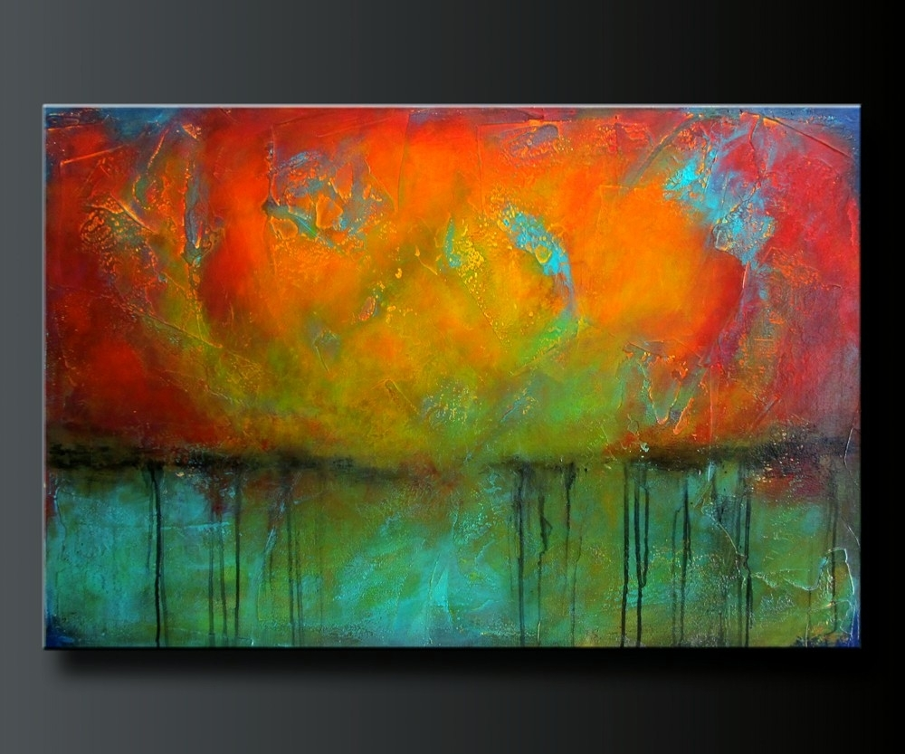 Abstract Acrylic Painting. Contemporary Wall Art (View 8 of 20)
