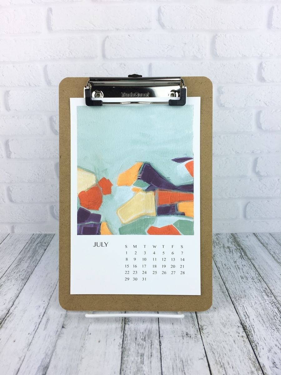 Abstract Art Clipboard Calendar, Art Wall Calendar 2018, Art Inside Most Popular Abstract Calendar Art Wall (Gallery 4 of 20)