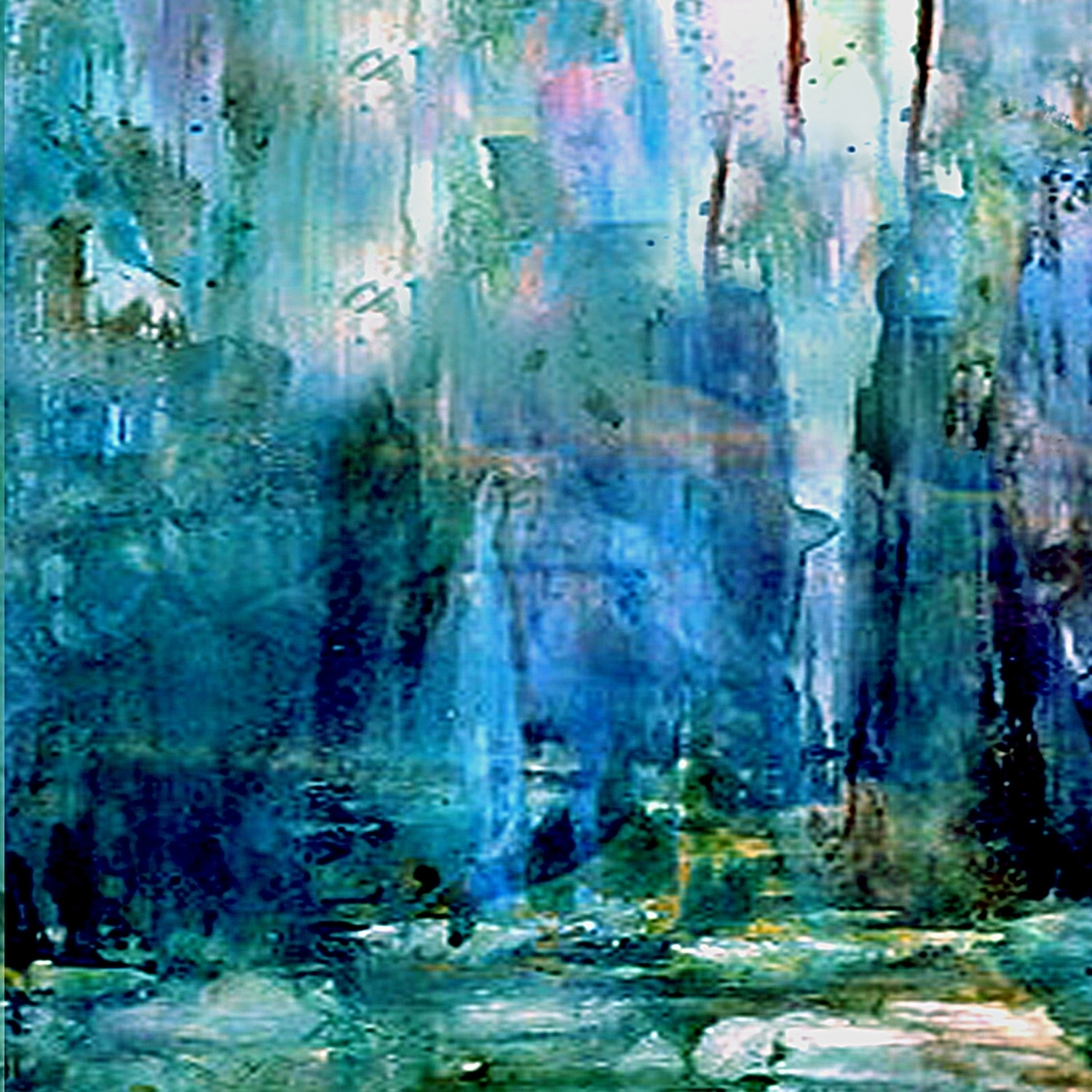 Abstract Art Ideas Canvas Wallpaper Painting Imanada Oil Paintings Inside Current Blue Abstract Wall Art (View 3 of 20)
