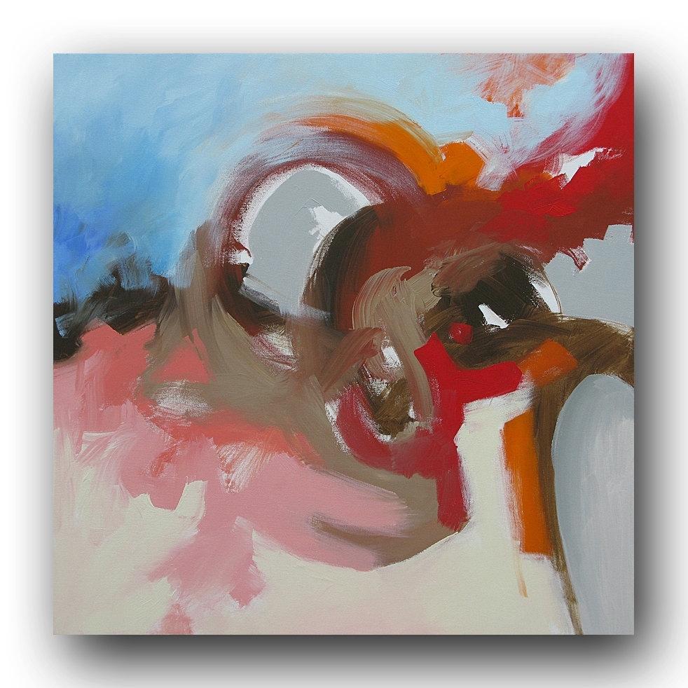Abstract Art Painting Original Modern Expressionism Wall Art Intended For 2017 Abstract Expressionism Wall Art (View 7 of 20)