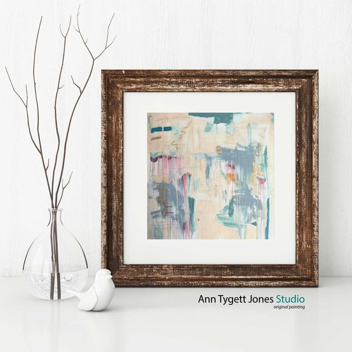 Abstract Art Print, Pastel Abstract Wall Art, Interior Wall Decor Intended For Best And Newest Pastel Abstract Wall Art (View 4 of 20)