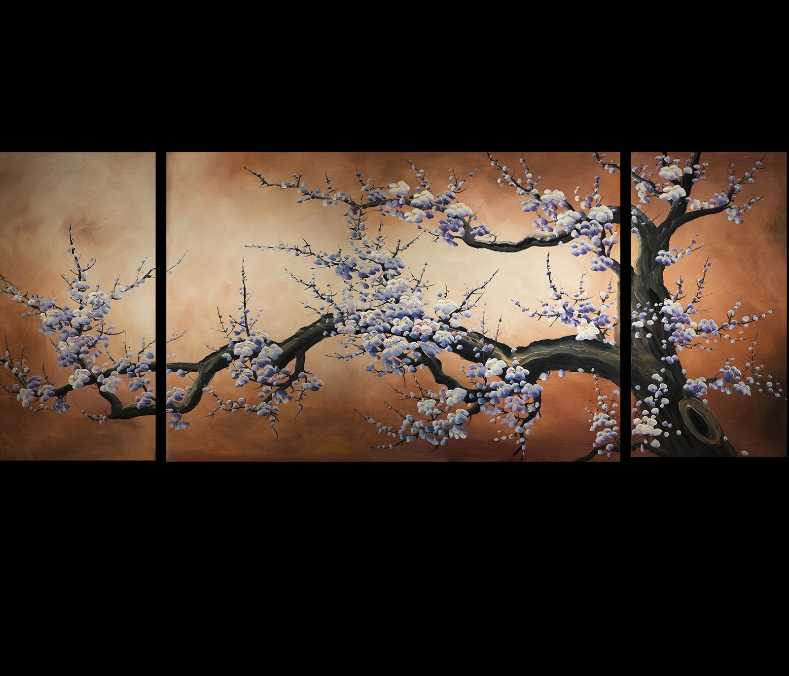 Abstract Art Prints On Canvas Modern Art Cherry Blossom Painting Within Recent Abstract Cherry Blossom Wall Art (View 3 of 20)