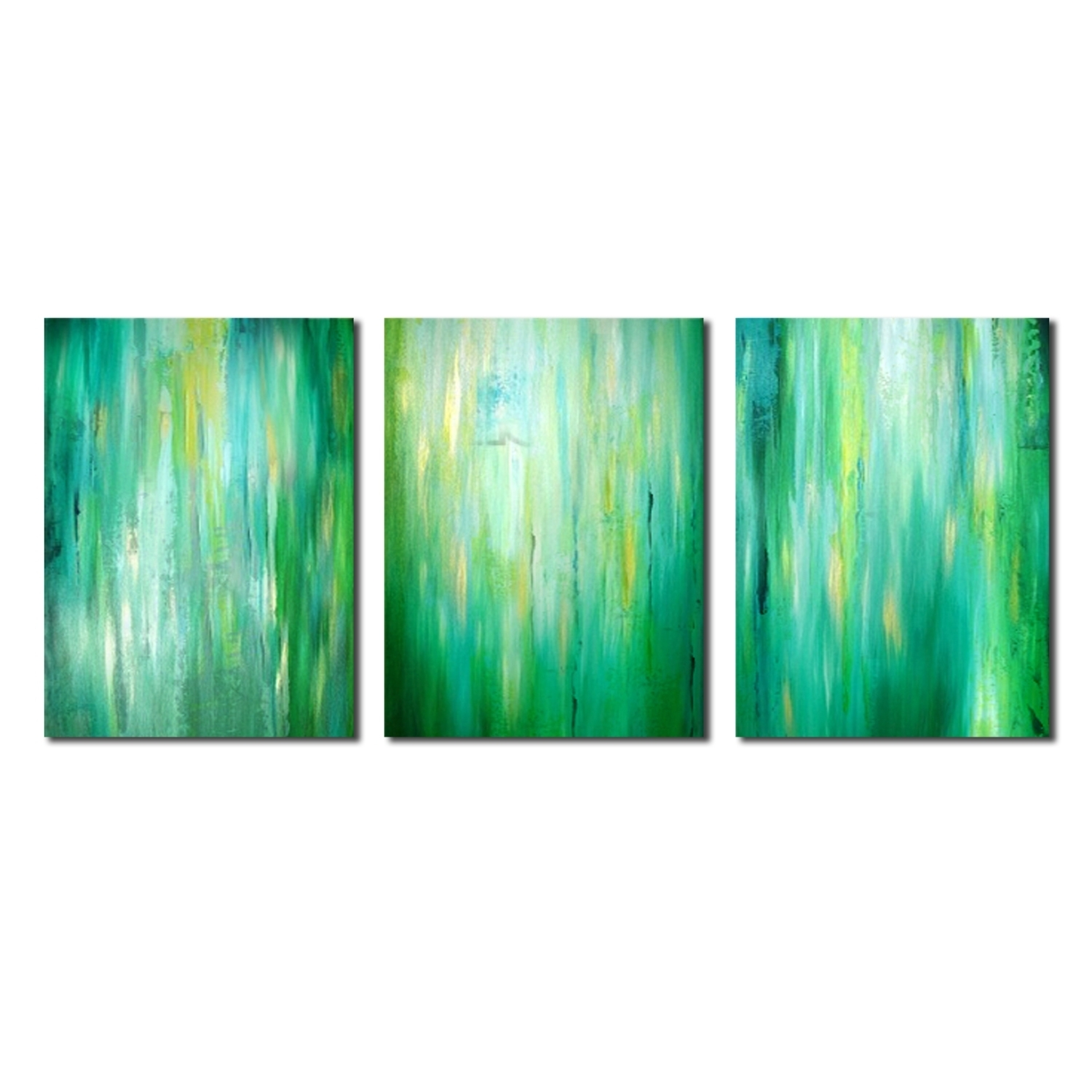 Abstract Decorative Oil Painting,green Canvas Oil Painting,bright Inside Current Lime Green Abstract Wall Art (View 6 of 20)