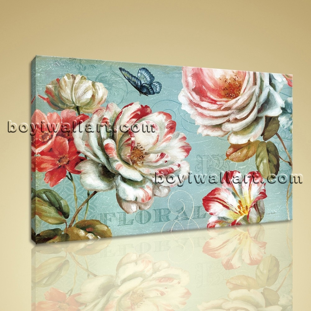 Abstract Floral Painting Flower Picture Hd Print Canvas Wall Art Intended For Most Recently Released Abstract Floral Canvas Wall Art (View 1 of 20)