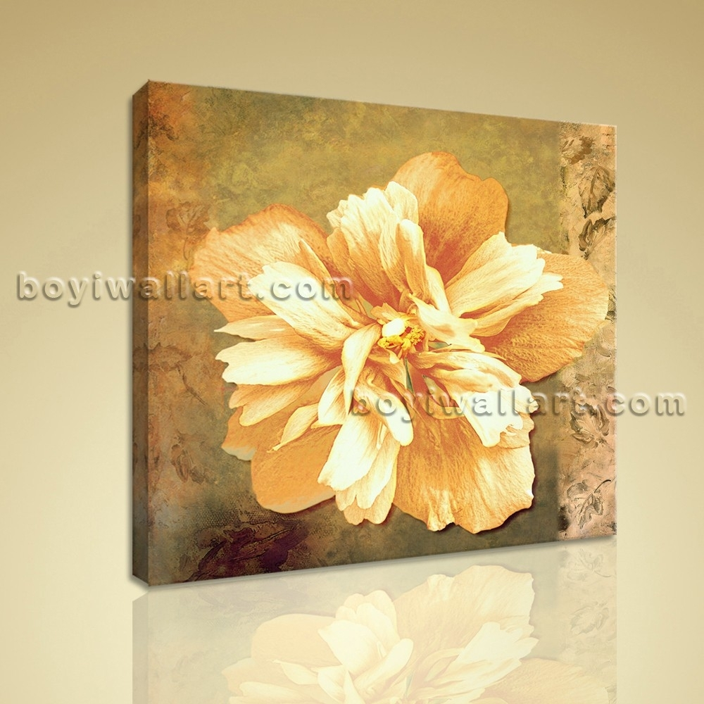 Abstract Floral Painting Hd Print Flower Picture Canvas Wall Art Decor With Most Up To Date Abstract Floral Canvas Wall Art (View 13 of 20)