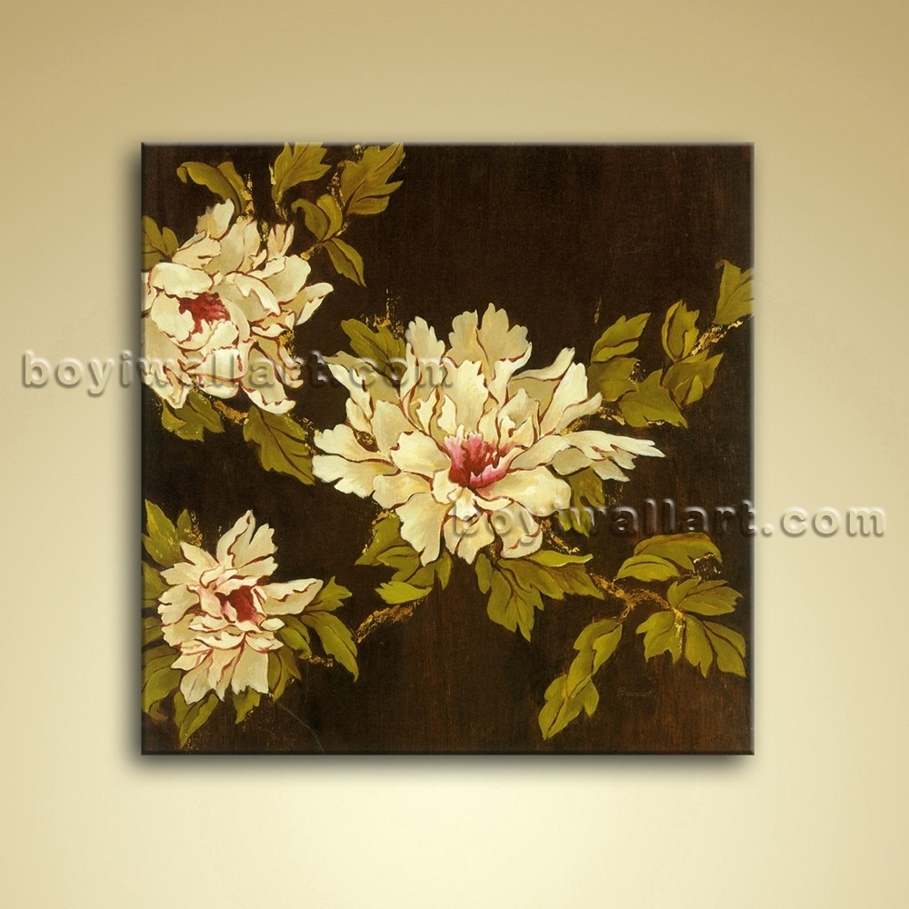 Abstract Floral Painting Oil Picture On Canvas Wall Art Decor With Newest Abstract Floral Canvas Wall Art (View 8 of 20)