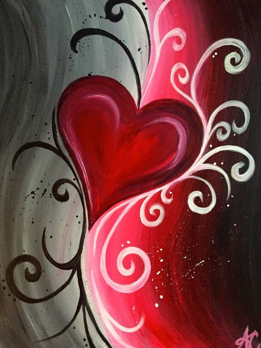 Abstract Heart | Painting Ideas | Pinterest | Paintings, Canvases Intended For Recent Abstract Heart Wall Art (View 13 of 20)