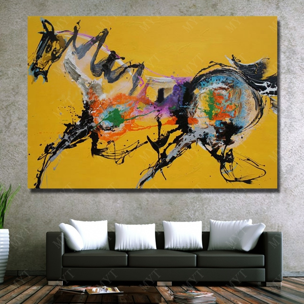Abstract Horse Wall Art New Design Wall Pictures For Living Room With 2017 Abstract Horse Wall Art (View 6 of 20)