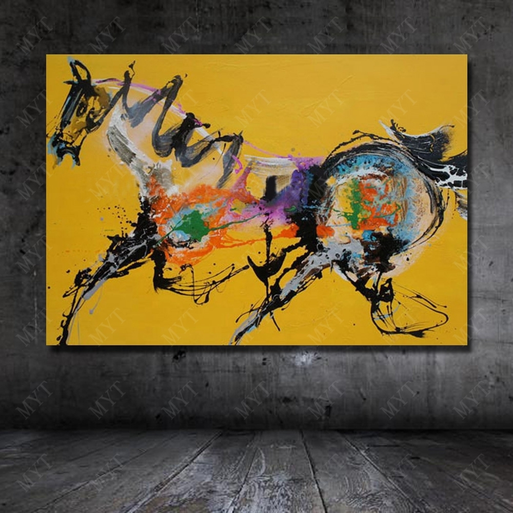 Abstract Horse Wall Art New Design Wall Pictures For Living Room With Regard To Current Abstract Horse Wall Art (View 7 of 20)